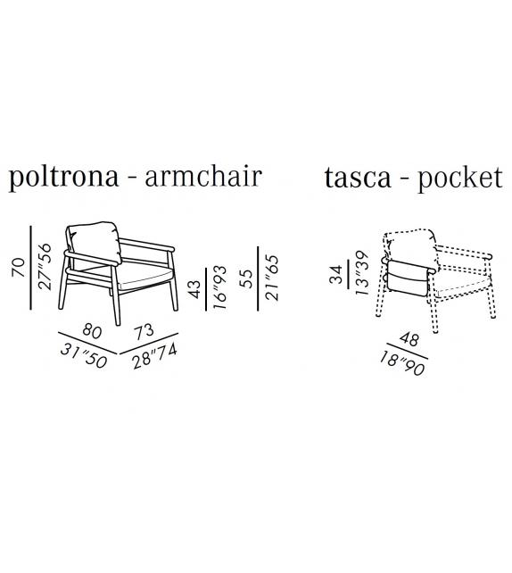 Teresa Pocket Meridiani Armchair
