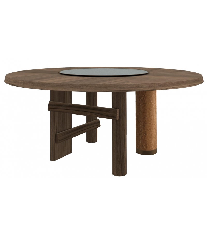559 Sengu Cassina Table with Wooden Top