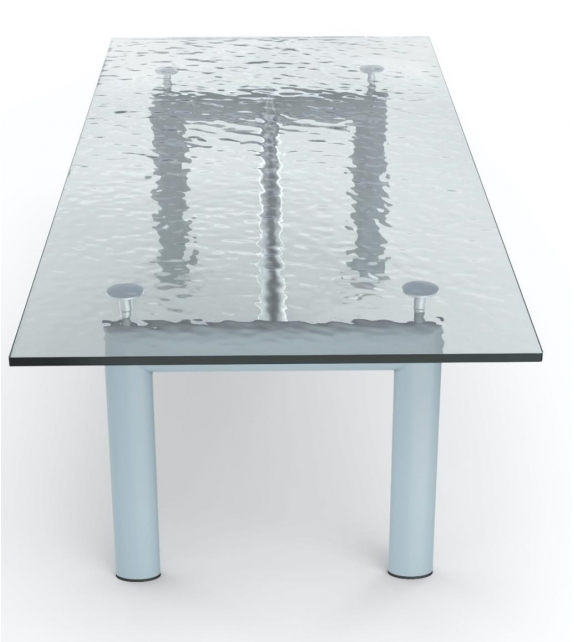 LC6 Cassina Table with Glass Top