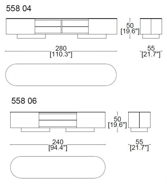 Rondos Cassina TV Cabinet