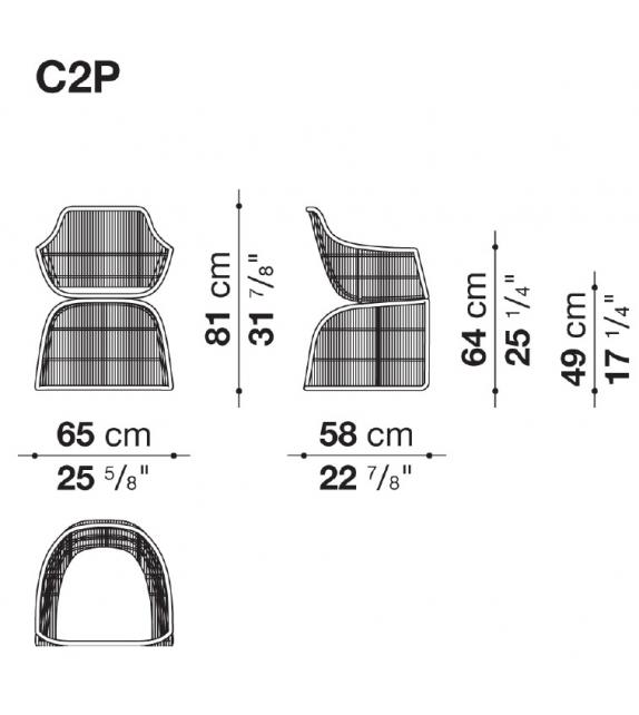 Crinoline C2P B&B Italia Outdoor Chair