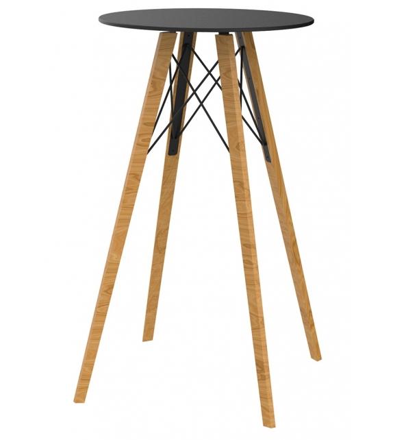 Faz Wood Vondom Table Haute