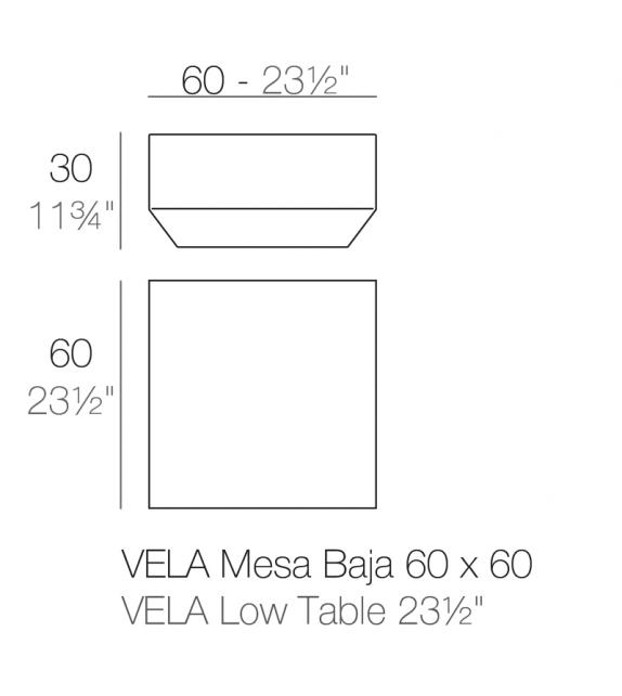 Vela Tavolino Per Sdraio Vondom