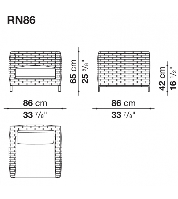 Ray Outdoor Natural B&B Italia Outdoor Sessel