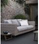 Ray Outdoor Natural B&B Italia Outdoor Sofa mit Holzsockel