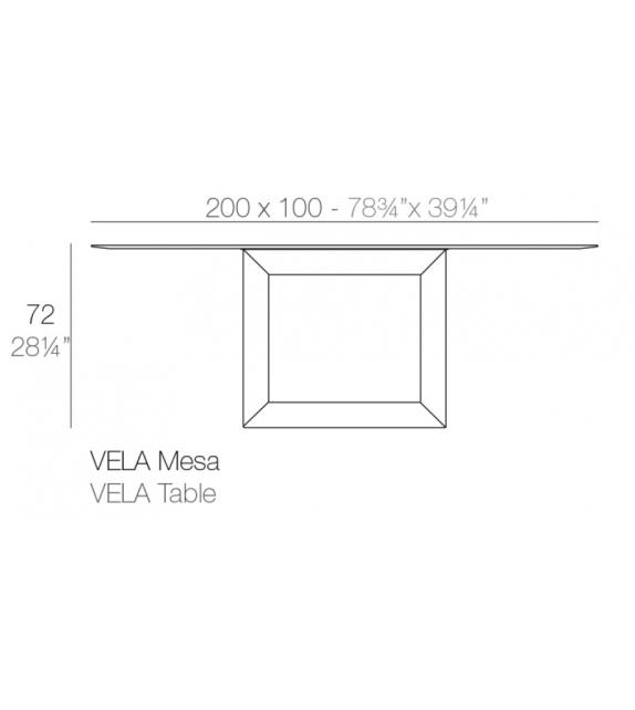 Vela Table Vondom