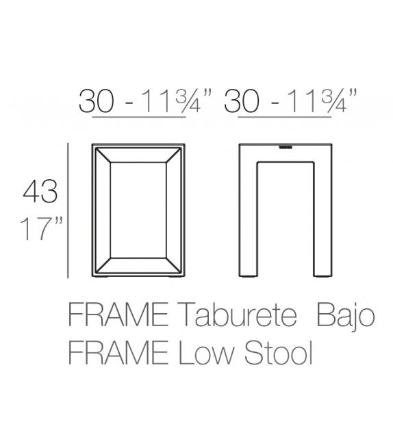 Frame Taburete Bajo Vondom