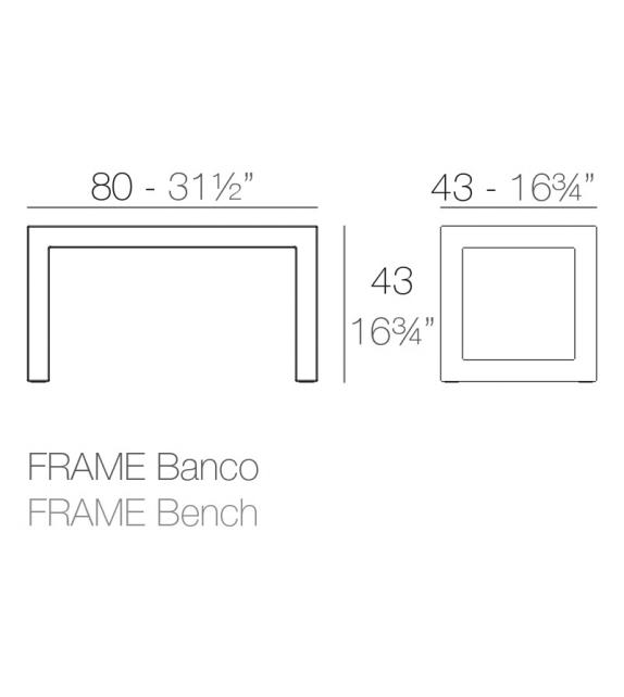 Frame Bench Vondom