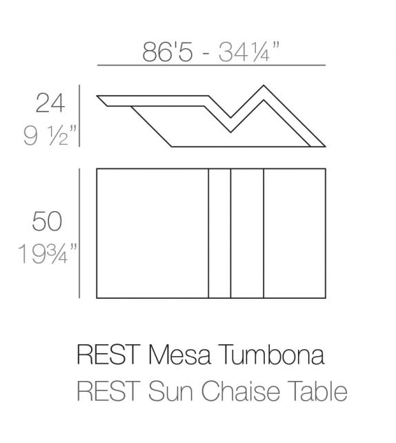 Rest Table Basse Pour Chaise Longue Vondom
