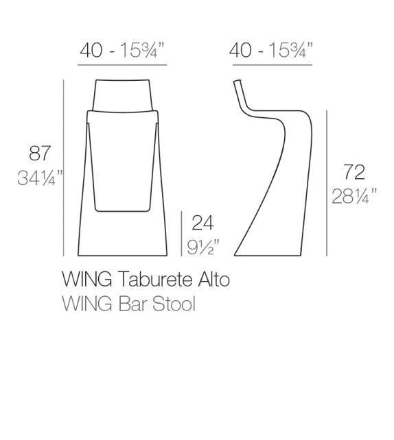 Wing Stool Vondom