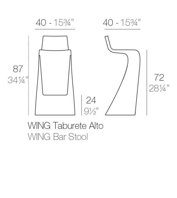 Wing Tabouret Vondom