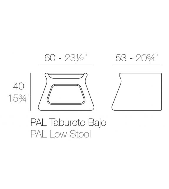 Pal Coffee Table / Stool Vondom