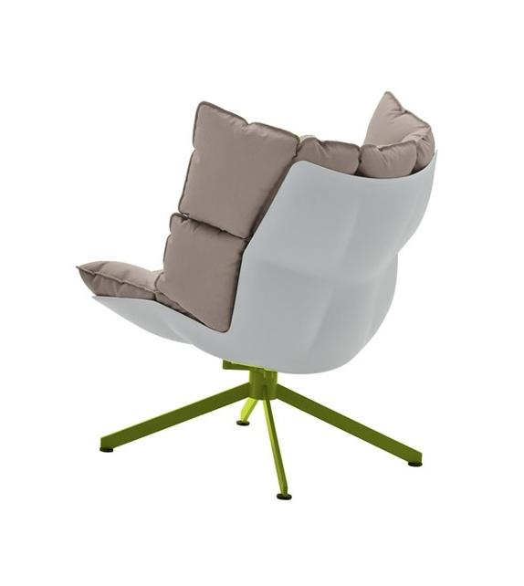 Husk B&B Italia Sessel mit Untergestell aus Aluminium