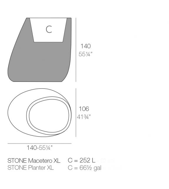 Stones Macetero Large Vondom