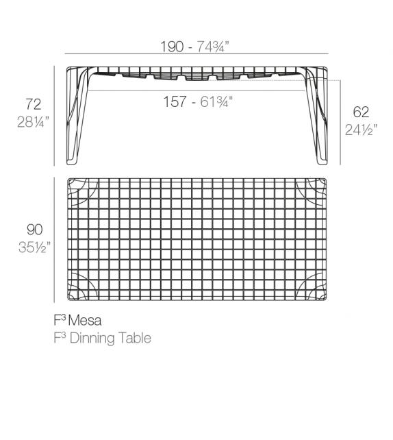 F3 Vondom Table