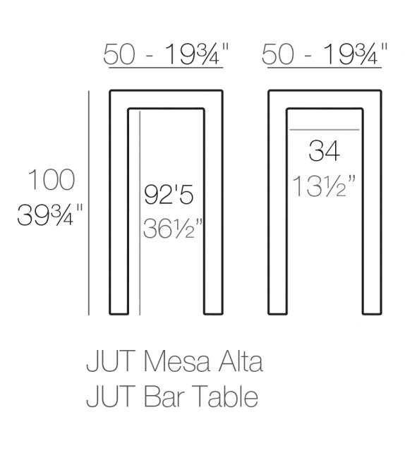 Jut High Table Vondom