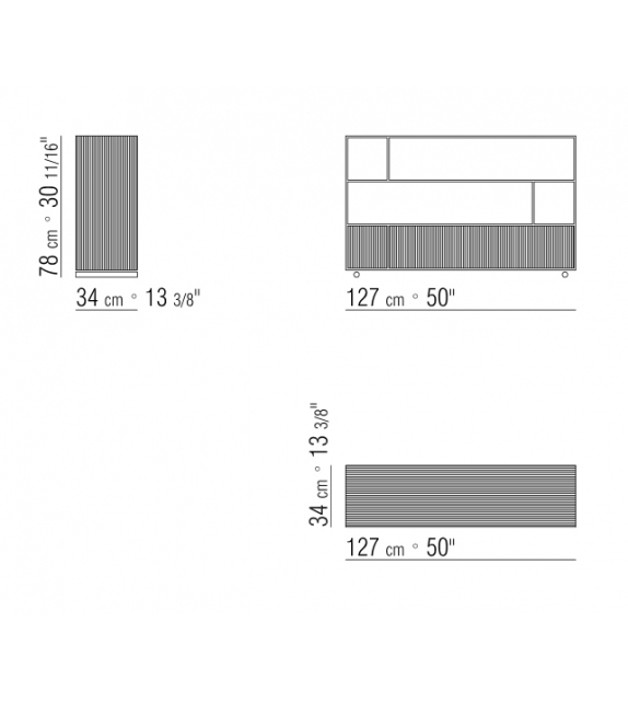 Groundpiece Librería Flexform