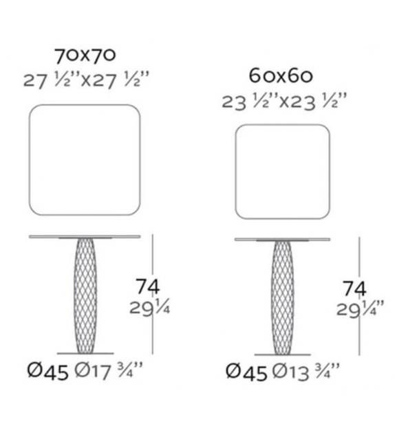Vases Table Carrée Vondom