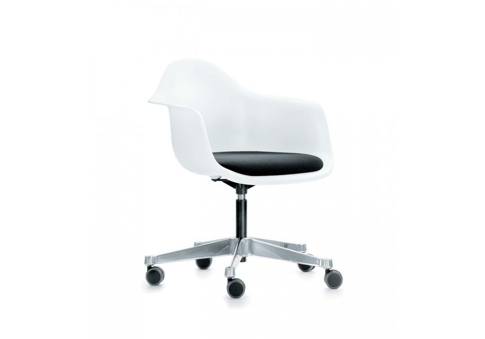 eames plastic armchair pacc silla giratoria con cojn vitra