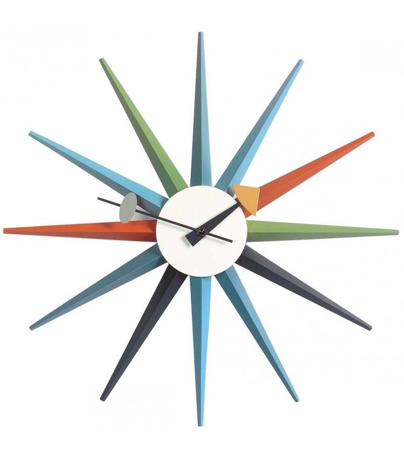 Prêt pour l'expédition - Sunburst Clock Vitra Horloge