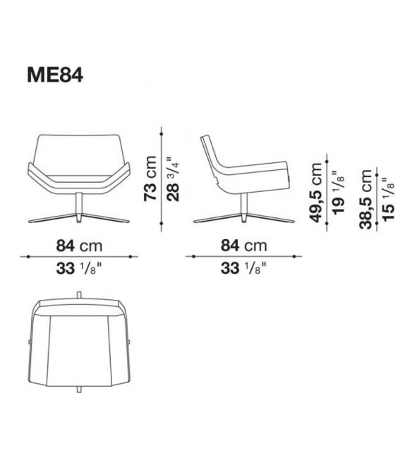 Metropolitan B&B Italia Kleiner Sessel