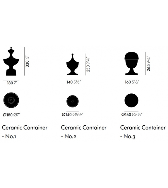 Ceramic Container Vitra Récipient