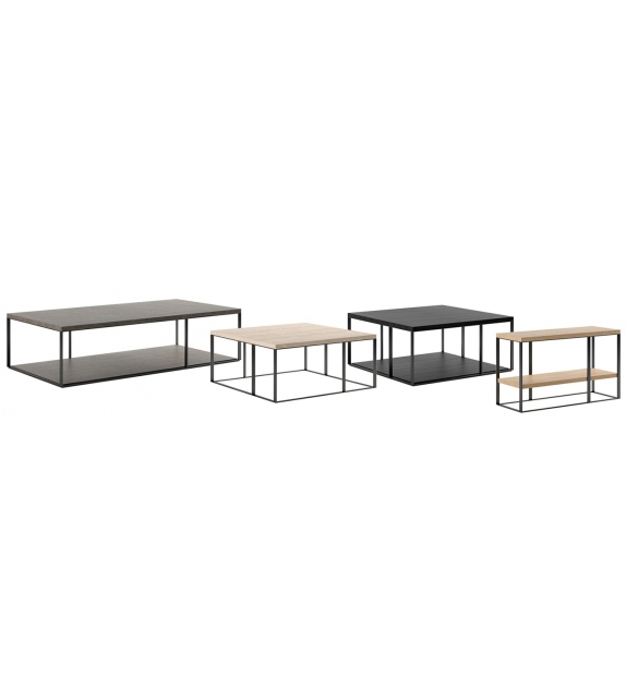 Lithos Maxalto Low Table with Oak Top