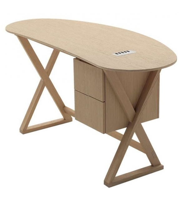 Sidus Writing Desk With Curved Top Maxalto