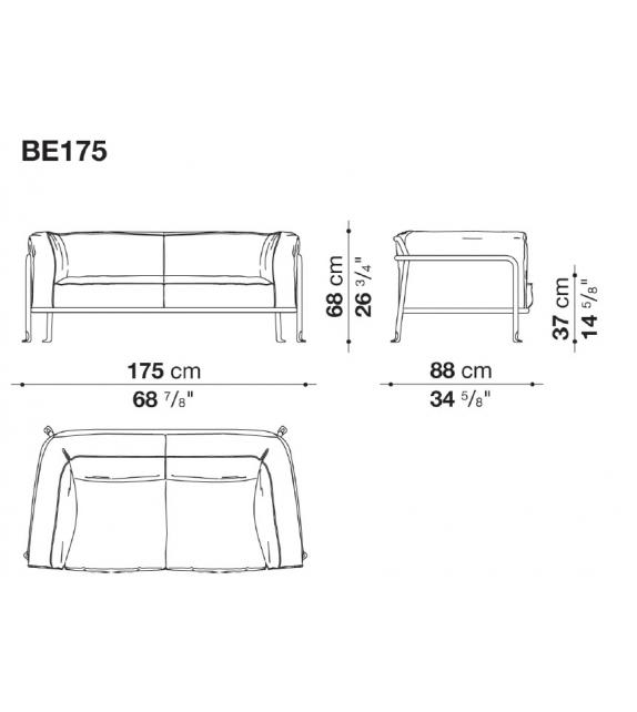 Ready for shipping - Borea B&B Italia Outdoor Sofa
