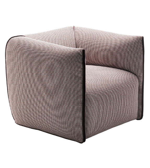 Mia MDF Italia Swivel Two-tone Armchair