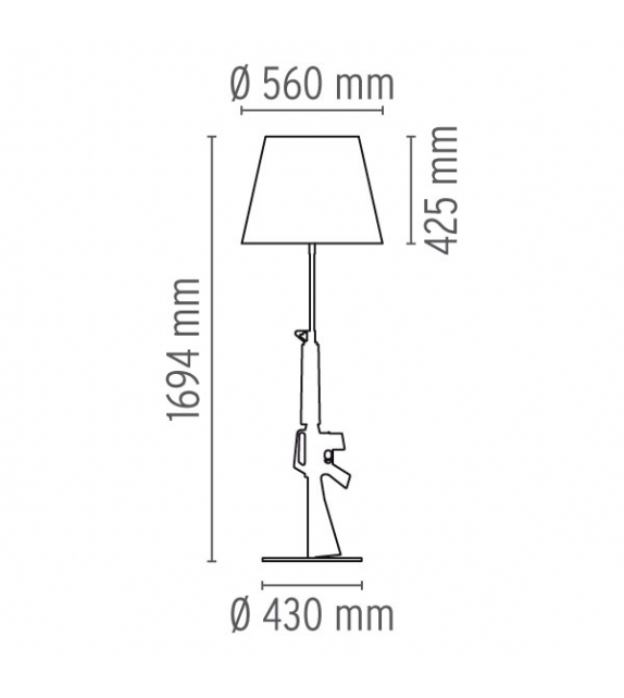 Guns - Lounge Gun Floor Lamp Flos