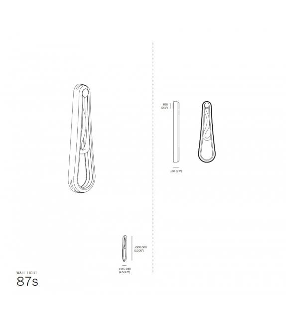 87 Bocci Wandlampe