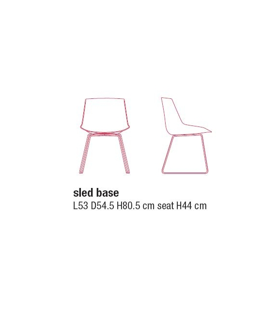 Flow Chair with Sled Base MDF Italia
