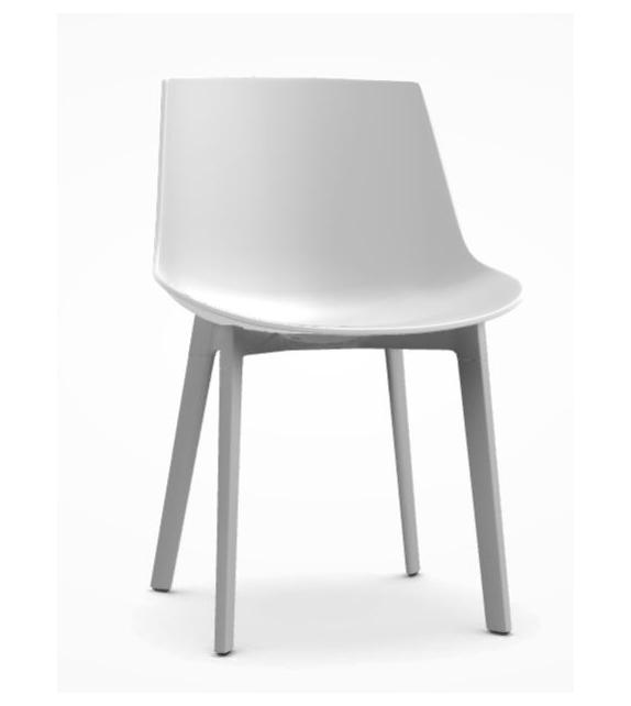 Flow Chair 4 Legs Cross MDF Italia
