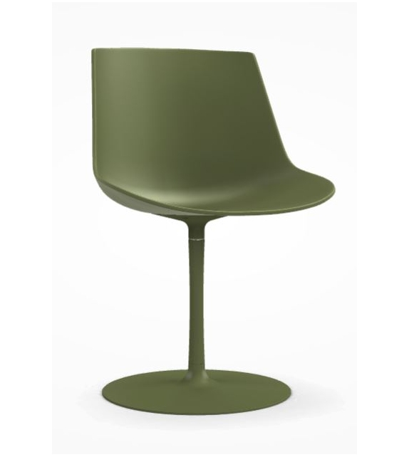 Flow Chair Chaise Avec Pied Central MDF Italia