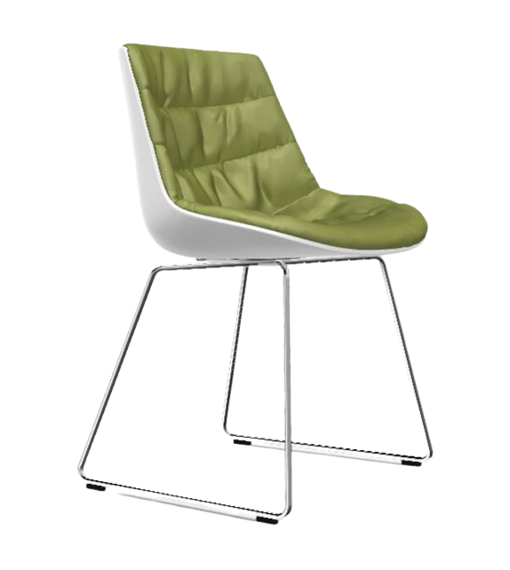 Flow Chair Padded with Sled Base MDF Italia