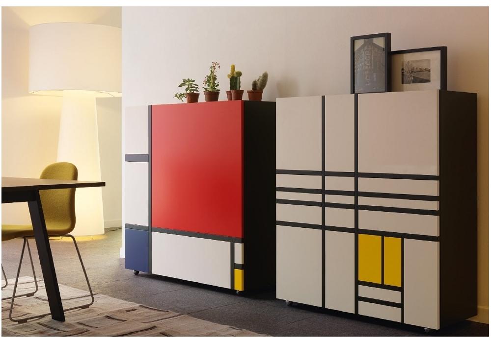 Homage To Mondrian 1 Cabinet Cappellini Milia Shop