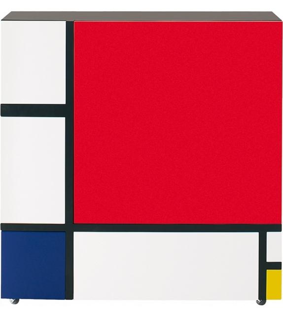 Homage to Mondrian 2 Cappellini Mobile Contenitore