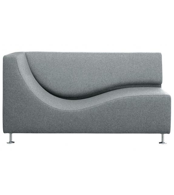 Three Sofa de Luxe Cappellini Chaise Longue avec Accoudoir