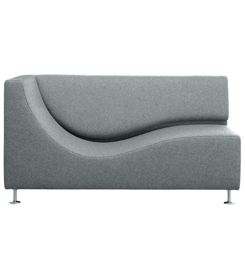 Three Sofa de Luxe Chaise Longue With Armrest Cappellini