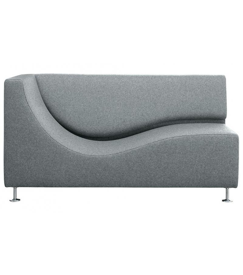 Three sofa de luxe chaise longue with armrest cappellini - Medidas de sofas chaise longue ...