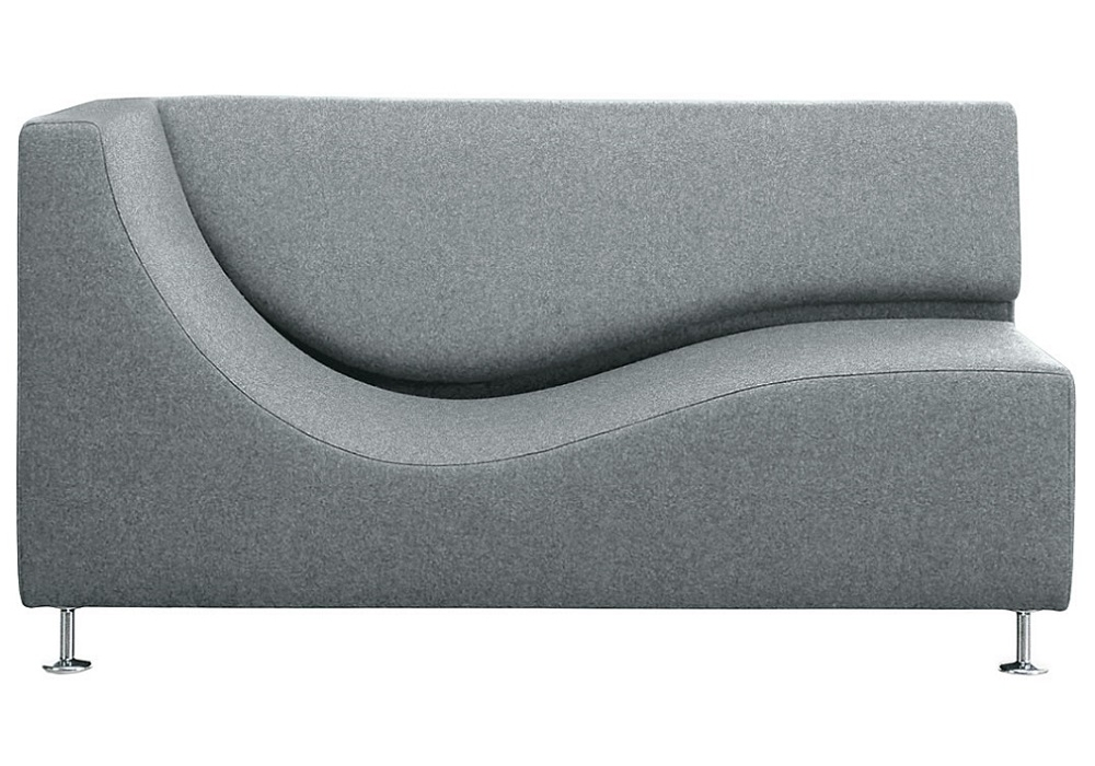 Three sofa de luxe chaise longue with armrest cappellini for Catalogos de sofas chaise longue
