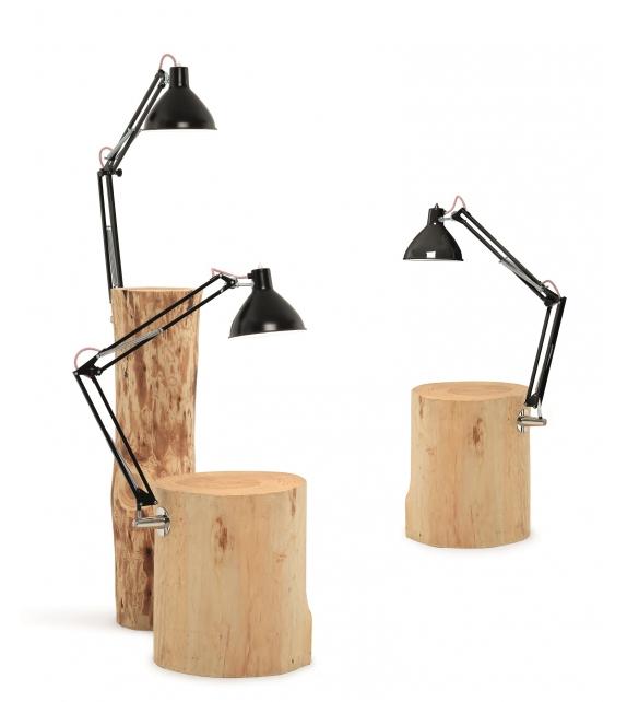 Piantama tavolino con lampada