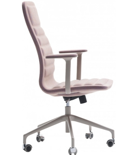 Lotus (Medium) Chair On Wheels With Armrests Cappellini