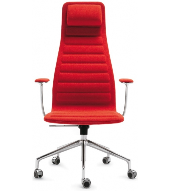 Lotus (High) Chair On Wheels With Armrests Cappellini