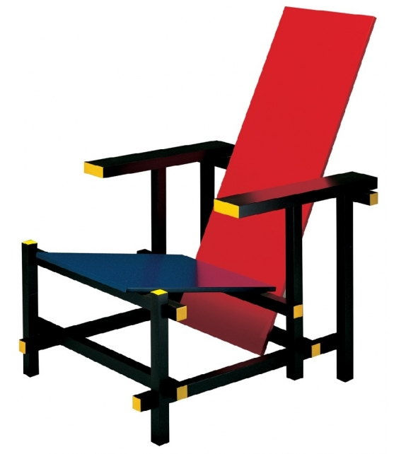 635 Red and Blue Cassina Fauteuil