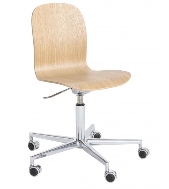 Tate Wood Cappellini Stuhl mit 5-Speichen-Basis