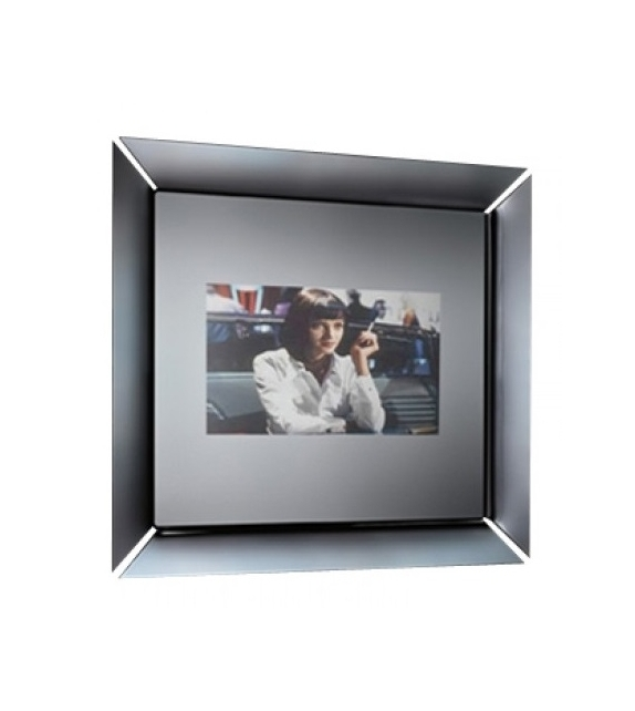 Caadre Tv Mirror With Integral Television Fiam