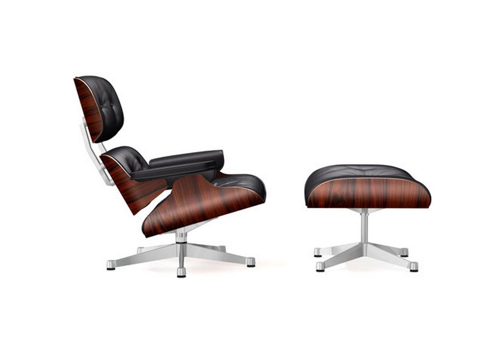 Lounge chair ottoman vitra milia shop for Vitra lounge chair nachbau