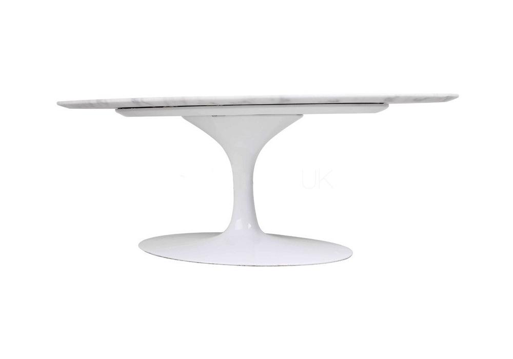 Saarinen Oval Coffee Table Marble Knoll Milia Shop - Knoll pedestal table